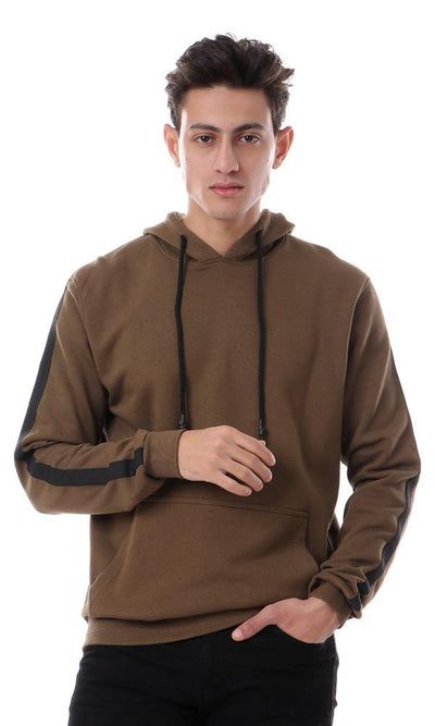 94334 Hooded Neck With Drawstring Army Olive Hoodie