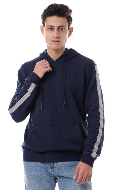 94335 Hooded Neck With Drawstring Navy Blue Hoodie