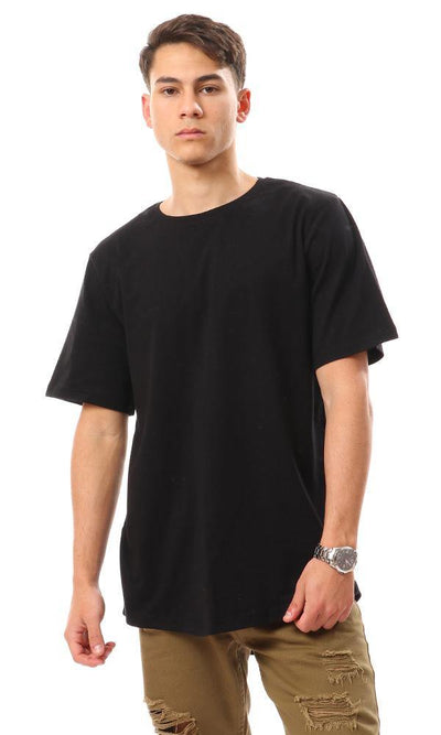 94685 Basic Solid Short Sleeves T-Shirt - Black