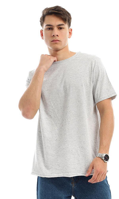 95250 Colorful Heather Grey Cotton Slip On Tee
