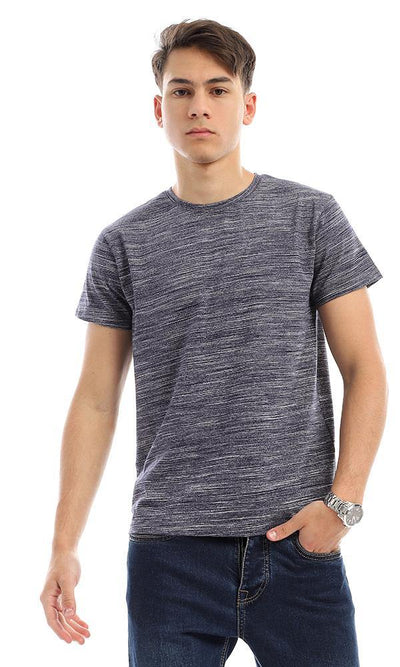 95448 Trendy Heather Navy Blue Stretchy Summer Tee