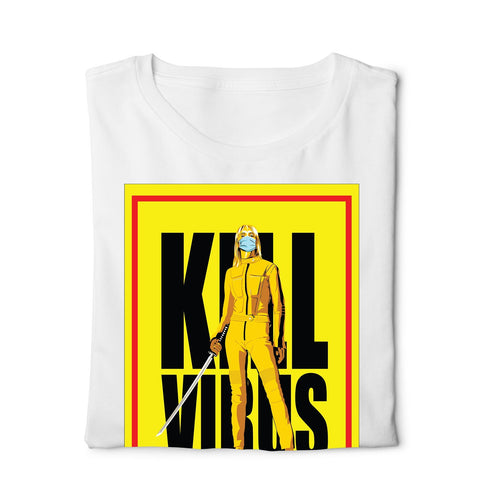 Kill Bill Kill Corona - Digital Graphics Basic T-shirt White