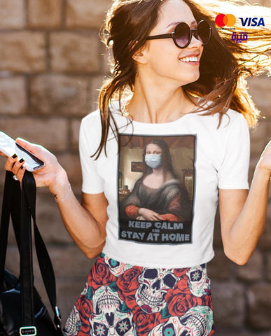 Mona Lisa knows how to fight corona  - Digital Graphics Basic T-shirt White