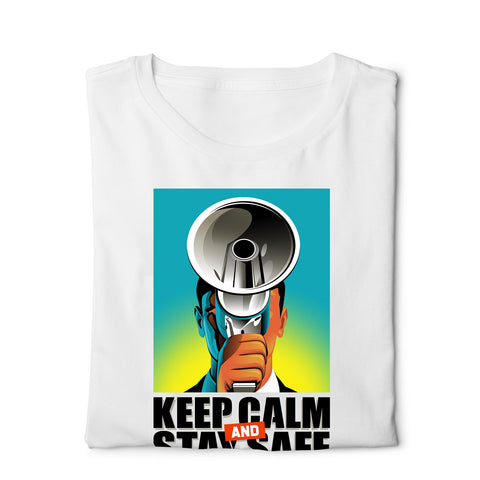 Peaky Blinder Keep Calm Stay Safe - Digital Graphics Basic T-shirt White