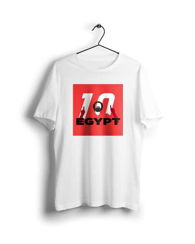 ACON Egypt Mo Salah - Digital Graphics Basic T-shirt White - POD