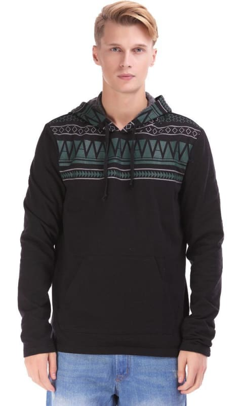 Andes Hooded Sweatshirt - Black - male hoodies & sweatshirts