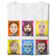 Arabic Game of Thrones Postage Digital Graphics Basic T-shirt White - POD