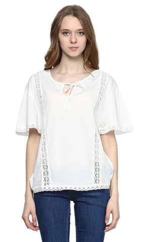 Batwing Top - White - women t-shirts