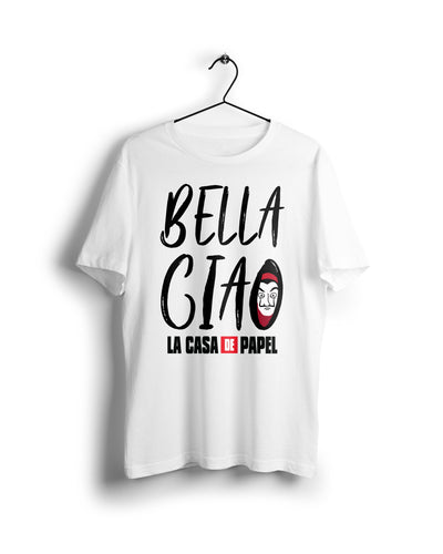 Bella Ciao La Casa De Papel - Digital Graphics Basic T-shirt White - Ravin