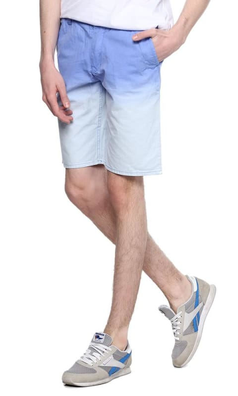 Bi-Tone Short - Blue & Iced Blue - male shorts