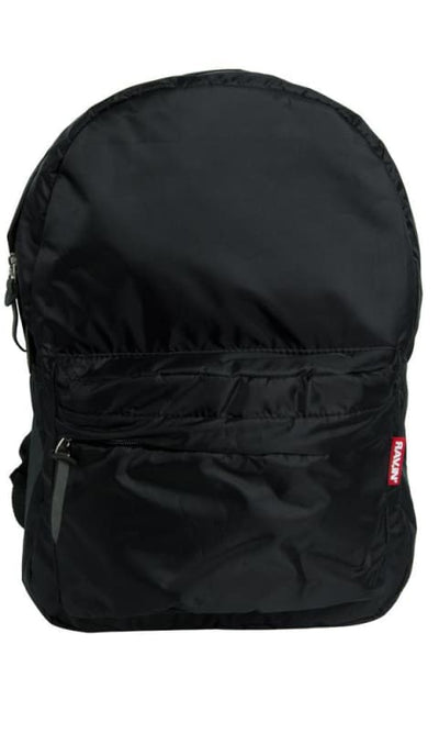 Black Solid BackPack - unisex bags