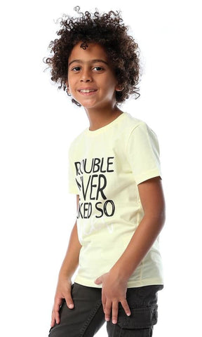 Boys Chiffon Lemon Trouble Tee - boy short sleeve t-shirt