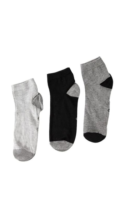 Bundle Of Three Solid Socks - Light Grey - male socks