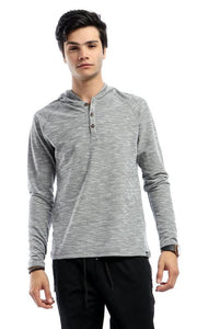 CairoKee Collection Casual Slip ON Sweatshirt - Grey - male long sleeve t-shirts