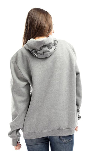 Cairokee Collection Printed Casual Grey Hoodie With Cape - male hoodies & sweatshirts