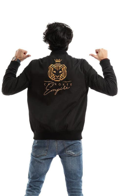 CairoKee Collection Unisex Bomber Black Jacket - male coats & jackets