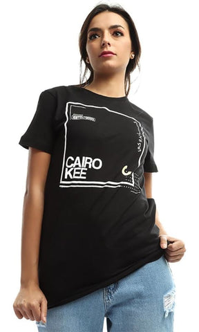 CairoKee Collection Unisex Casual Printed Elegant T-shirt - Black - male t-shirts