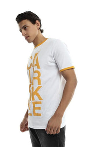 CairoKee Collection Unisex Casual Printed T-shirt - White - male t-shirts