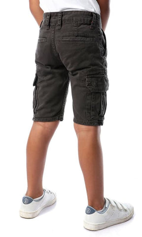 Cargo Casual Dark Grey Shorts - boy shorts