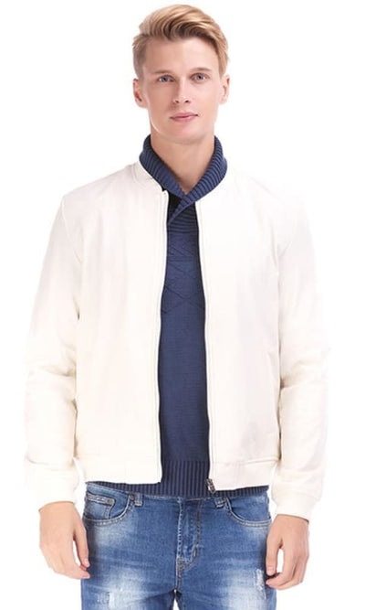 Casual Jacket - Off White - male coats & jackets