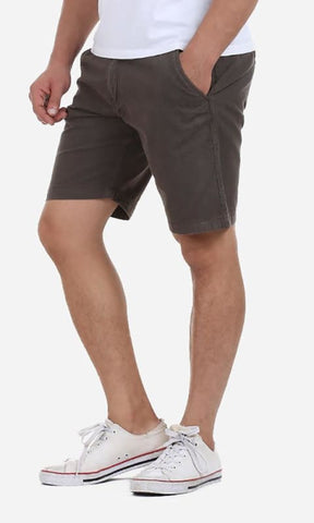 Casual Plain Short - Dark Grey - male shorts