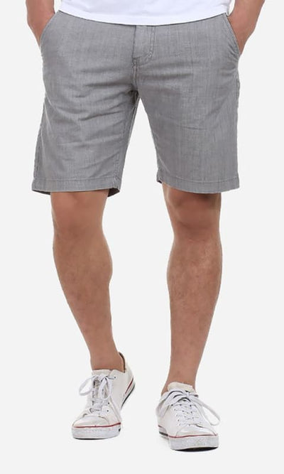 Casual Plain Short - Grey - male shorts