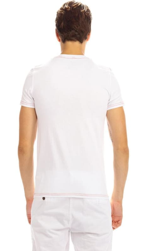 Casual Printed T-Shirt - White - male t-shirts