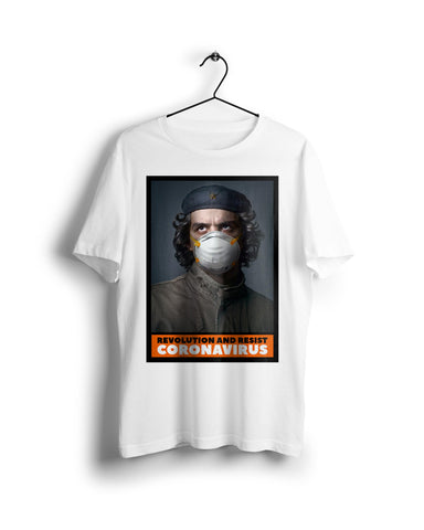 Che Guevara Resist Corona - Digital Graphics Basic T-shirt White