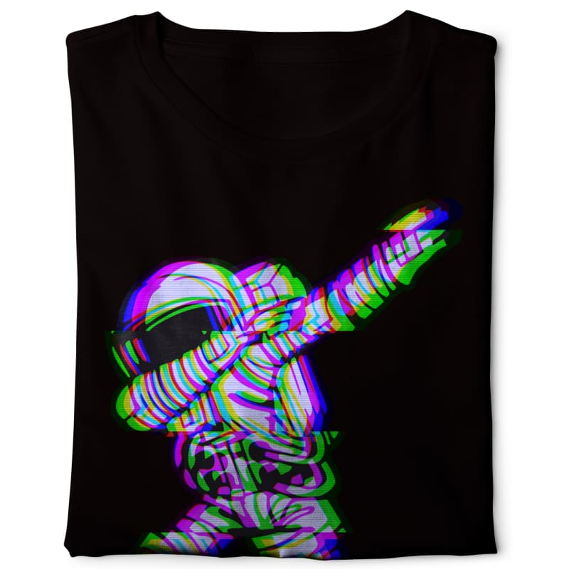 Dabbing Astro - Digital Graphics Basic T-shirt black - POD