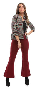 Decorated Long Sleeves Blazer - women coats & jackets