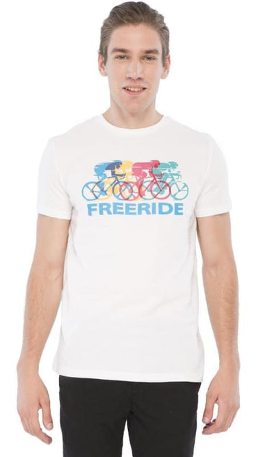 Free Ride-T-Shirt - White - male t-shirts