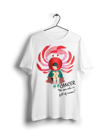 Horoscope Cancer - Digital Graphics Basic T-shirt White - POD