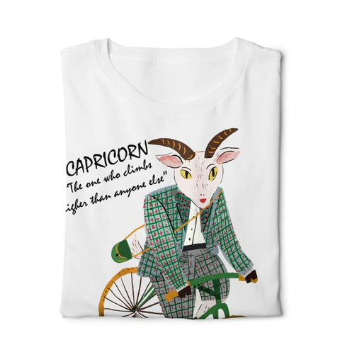 Horoscope Capricorn- Digital Graphics Basic T-shirt White - POD