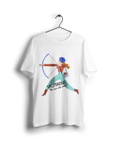 Horoscope Sagittarius- Digital Graphics Basic T-shirt White - POD
