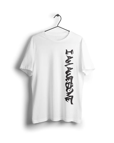 I am Awesome - Digital Graphics Basic T-shirt White - POD