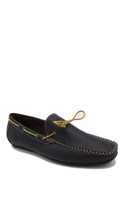 Loafers Shoes - Navy Blue - male footwear