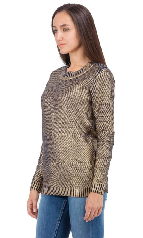 Metallic Sweater - Gold - women pullover