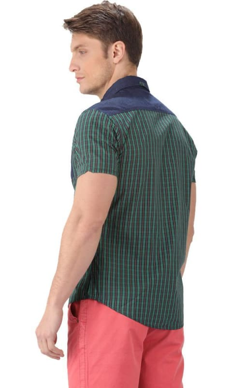 Plaids Shirt - Green - male shirts