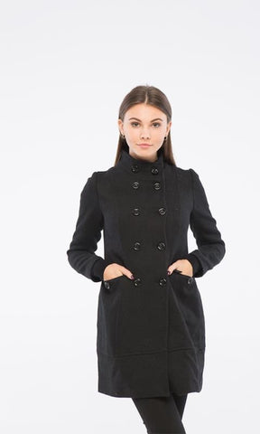 Plain Elegant Coat - Black - women coats & jackets