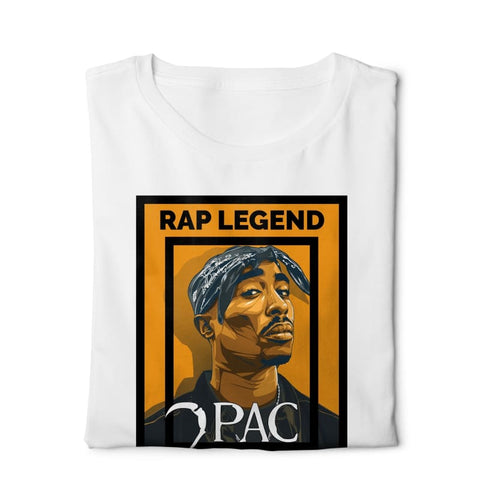 Rap Legend 2pac - Digital Graphics Basic T-shirt White - POD