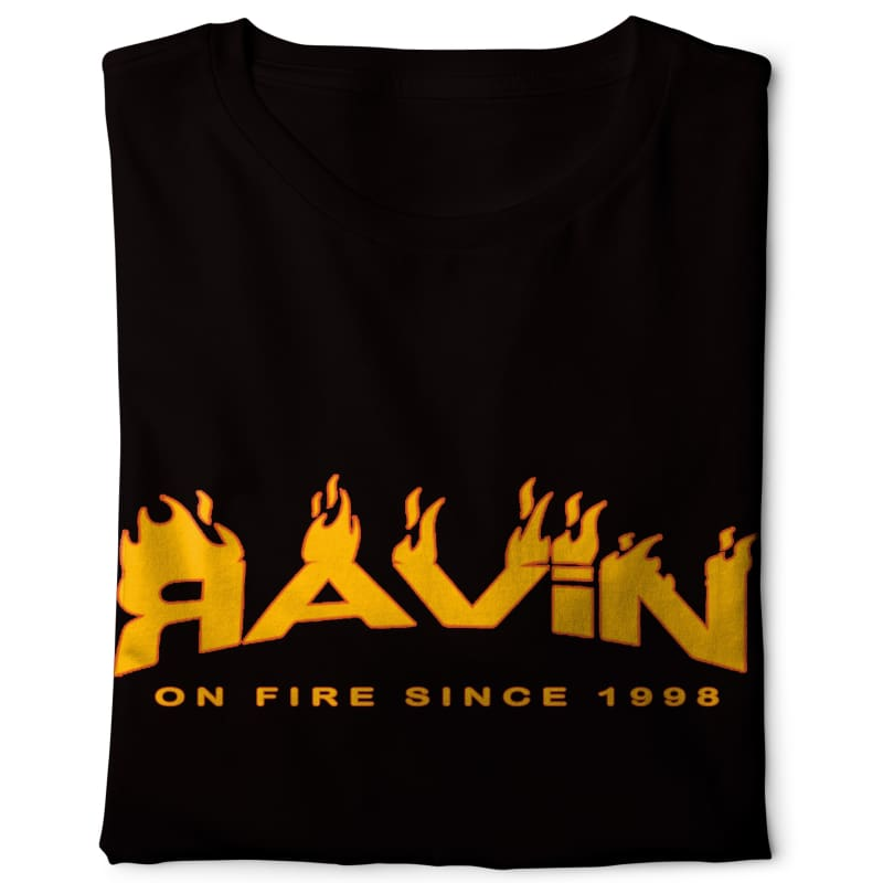 Ravin on Fire -Digital Graphics Basic T-shirt black - POD