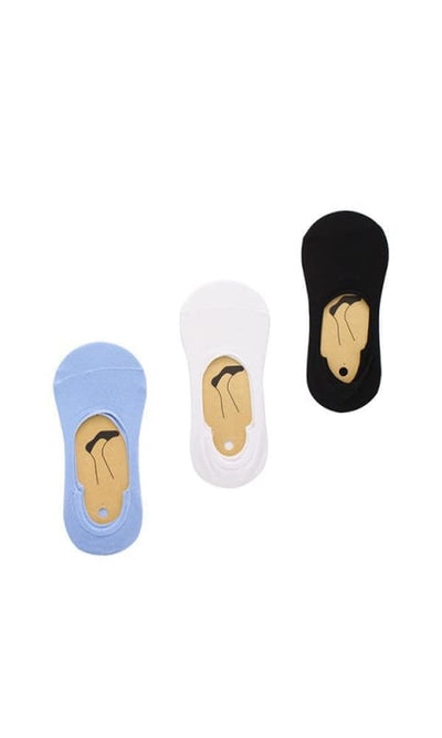 Set Of 3 Invisible Socks - Multicolour - women socks