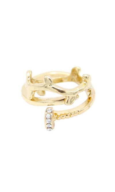 Set Of Simple Rings - Gold - women jewellery