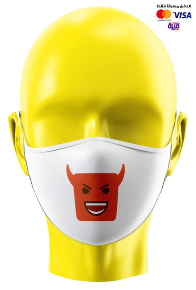 Devil Smiley Custom Face Mask - Ravin