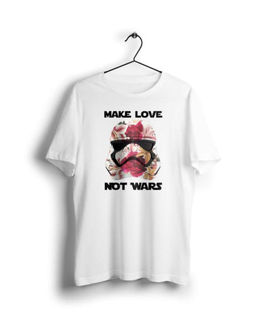 Star Wars Make Love not Wars - Digital Graphics Basic T-shirt White - POD