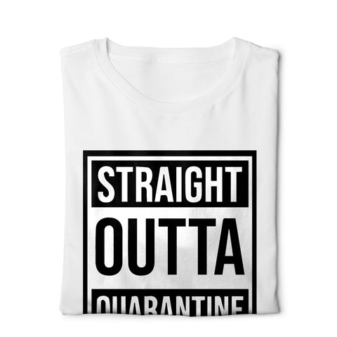 Straight outta quarantine - Digital Graphics Basic T-shirt White