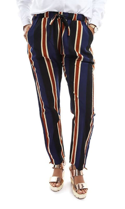 Straight Striped Pants - Multicoour - hijab style