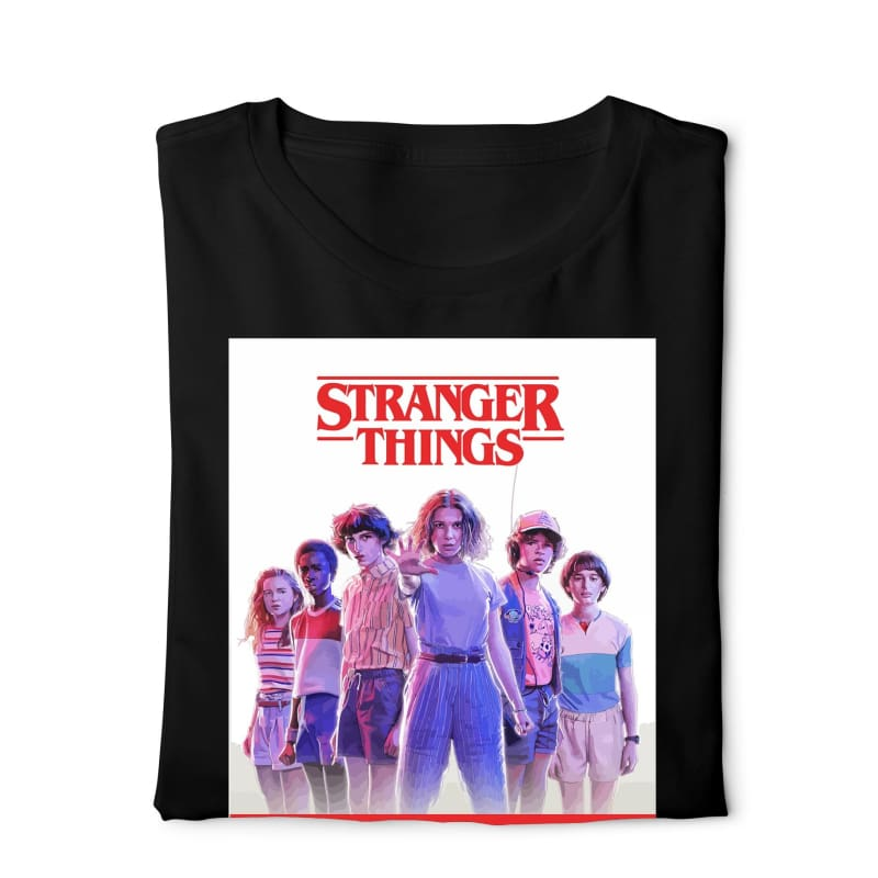 Stranger Things - Digital Graphics Basic T-shirt Black - POD