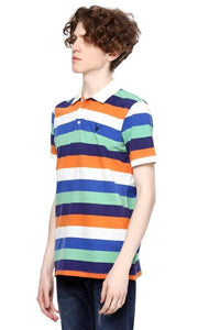 Striped Polo Shirt - Multicolour - male polo shirts