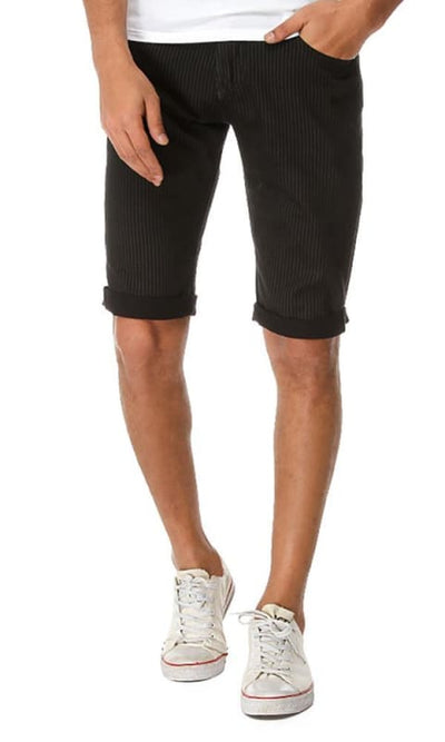 Striped Short - Black - male shorts